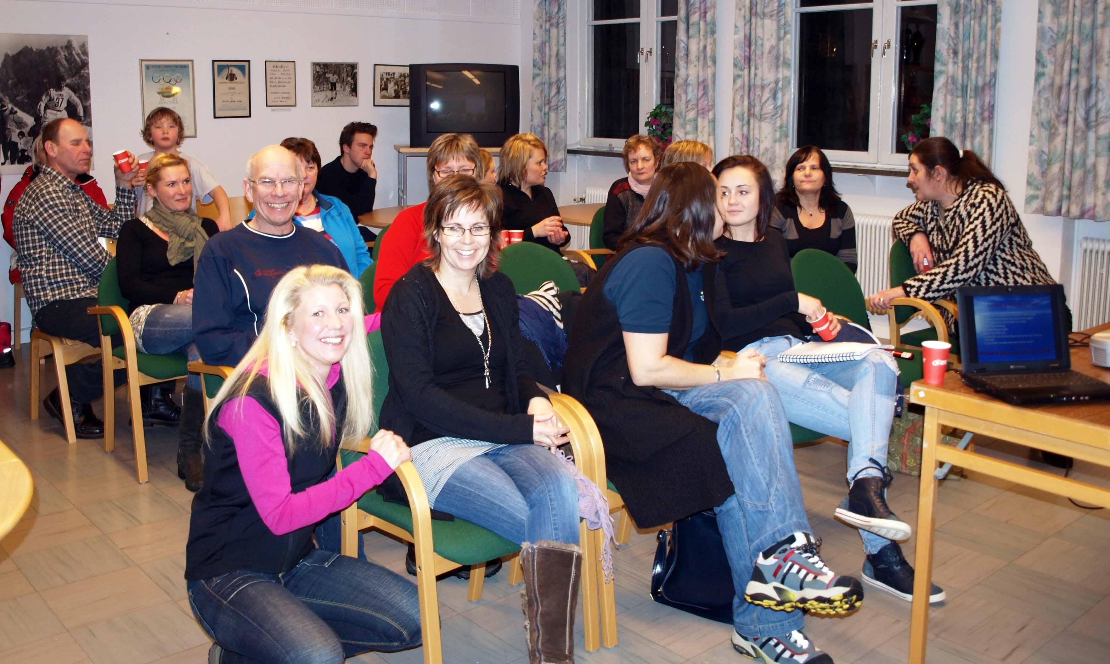 Friska deltagare vid kost & hälsa föredraget