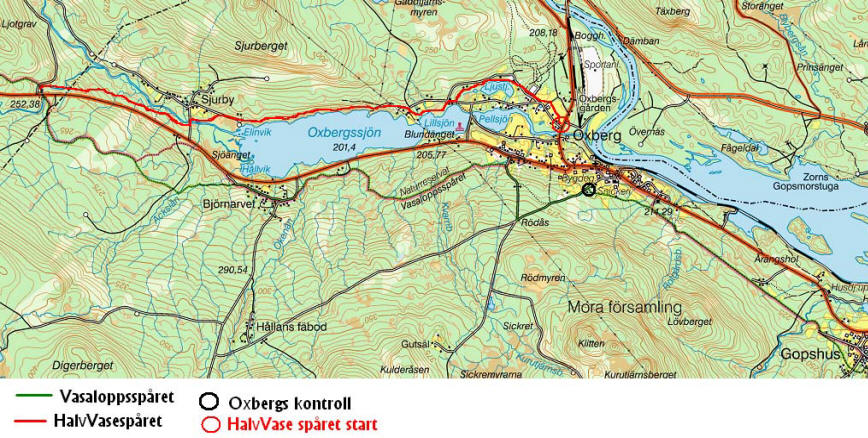 Karta Skidspar Oxberg
